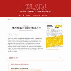 2018 - Rhétoriques antiféministes – GLAD!