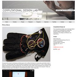 Rhino Glove | Computational Design Lab