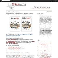 Rhino News, etc.
