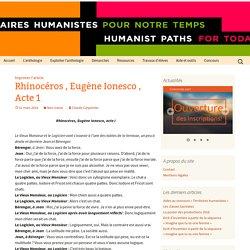 Rhinocéros , Eugène Ionesco , Acte 1