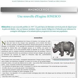 Rhinocéros, la nouvelle de Ionesco