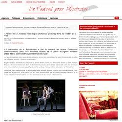«Rhinocéros», Ionesco revisité par Emmanuel Demarcy-Mota au Théâtre de la Ville