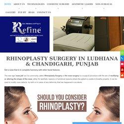 Rhinoplasty cost in Punjab