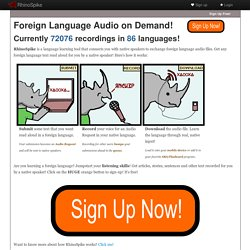 : Foreign Language Audio on Demand!