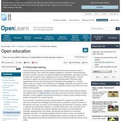 education: 5.5 Rhizomatic learning - OpenLearn - Open University - H817_1