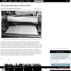 The Impossible Music of Black MIDI