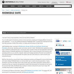 rhomobile - the open mobile framework