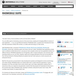 Rhomobile | Cross-Platform Mobile App Development
