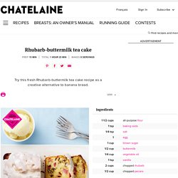 Rhubarb-buttermilk tea cake recipe