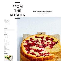 Roast Rhubarb & White Chocolate Baked Cheesecake