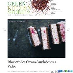 Rhubarb Ice Cream Sandwiches + Video
