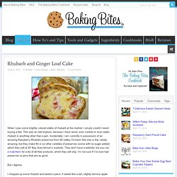 Rhubarb and Ginger Loaf Cake