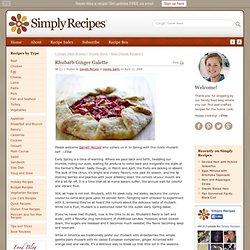 Rhubarb Ginger Galette Recipe