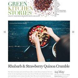 Rhubarb & Strawberry Quinoa Crumble