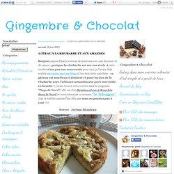 GÂTEAU À LA RHUBARBE ET AUX AMANDES - Gingembre & Chocolat