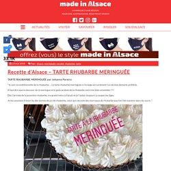Recette d'Alsace - TARTE RHUBARBE MERINGUÉE - Made in Alsace