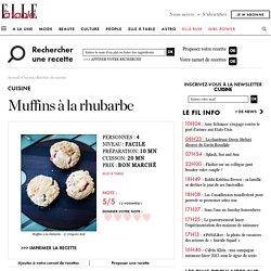 Muffins à la rhubarbe pour 4 personnes