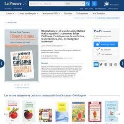 Rhumatismes, Jean-Pierre Poinsignon, Livres, LaProcure.com