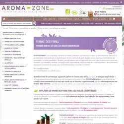 Rhume des foins - L'aromathérapie au quotidien