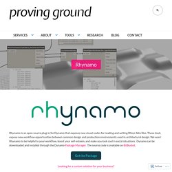 Rhynamo – PROVING GROUND