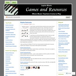 Layton Music Games and Resources
