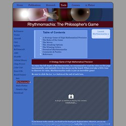 Rhythmomachia: The Philosopher's Game