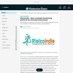 RialzoIndia - Most trustable fundraising platform for startups & businesses