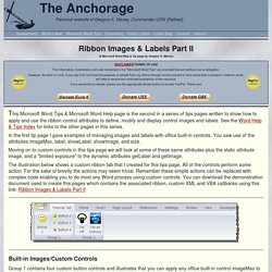 Ribbon Images & Labels Part II