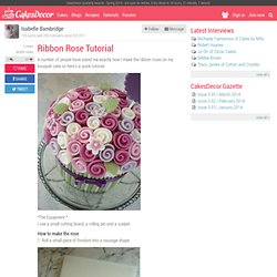 Ribbon Rose Tutorial - by designercakecompany