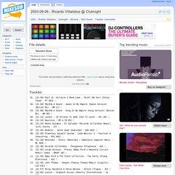 2003-09-06 - Ricardo Villalobos @ Clubnight − MixesDB
