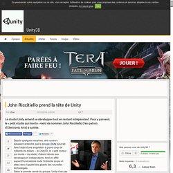 John Riccitiello prend la tête de Unity - Unity3D // 23 octobre 2014