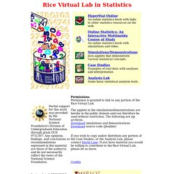 Rice Virtual Lab in Statistics (RVLS)