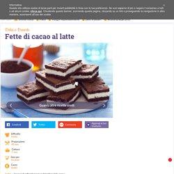 Ricetta Fette di cacao al latte