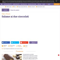 Ricetta Salame ai due cioccolati