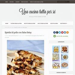 Ricetta spiedini di pollo con salsa Satay