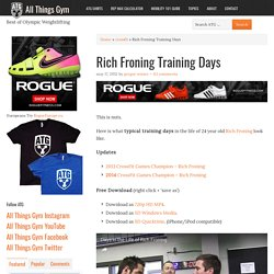how to look like rich froning