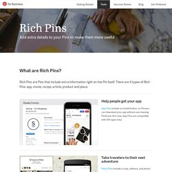 Rich Pins | Pinterest for Business