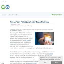 Rich vs Poor – What the Wealthy Teach Their Kids