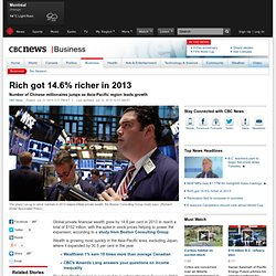Rich got 14.6% richer in 2013