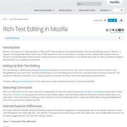 Rich-Text Editing in Mozilla