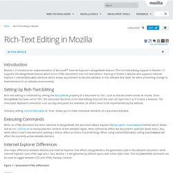 Rich-Text Editing in Mozilla