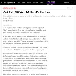 Get Rich Off Your Million-Dollar Idea