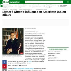 Richard Nixon's Native American Federal Policy