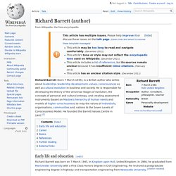 Richard Barrett (author) - Wikipedia
