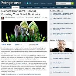 6 Steps to Successfully Grow Your Small Business from Richard Branson