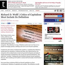Critics of Capitalism Must Include Its Definition