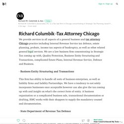 Richard Columbik -Tax Attorney Chicago – Medium
