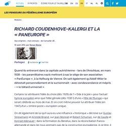 Richard Coudenhove-Kalergi et la « PanEurope »