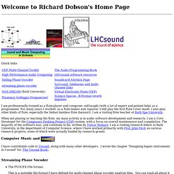 Richard Dobson's Home Page