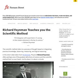 Richard Feynman Teaches you the Scientific Method